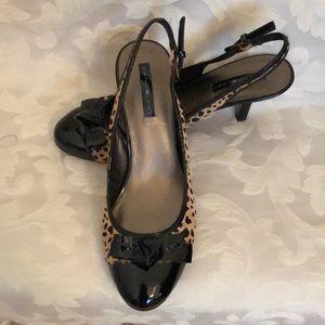 "Bandolino 3"" slingback heels in patten leather"